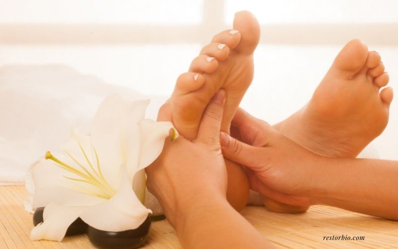 Begin with a foot massage