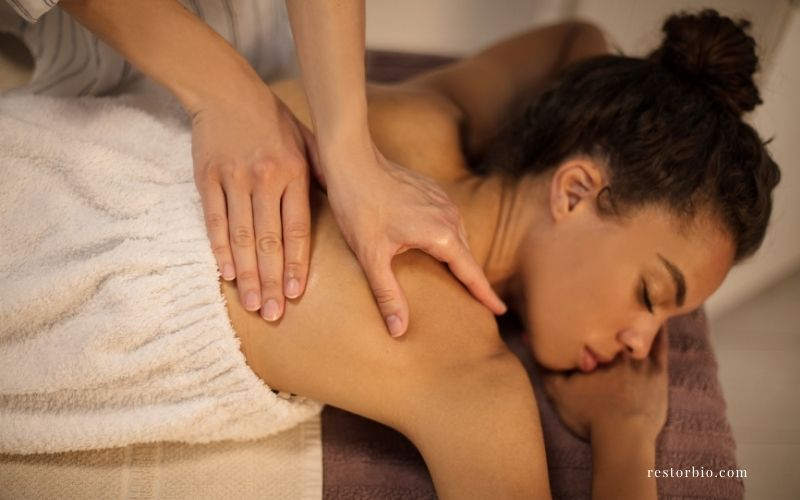 How can you relieve pain after a massage