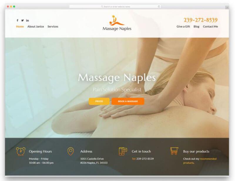 Start A Massage Business - Build a website