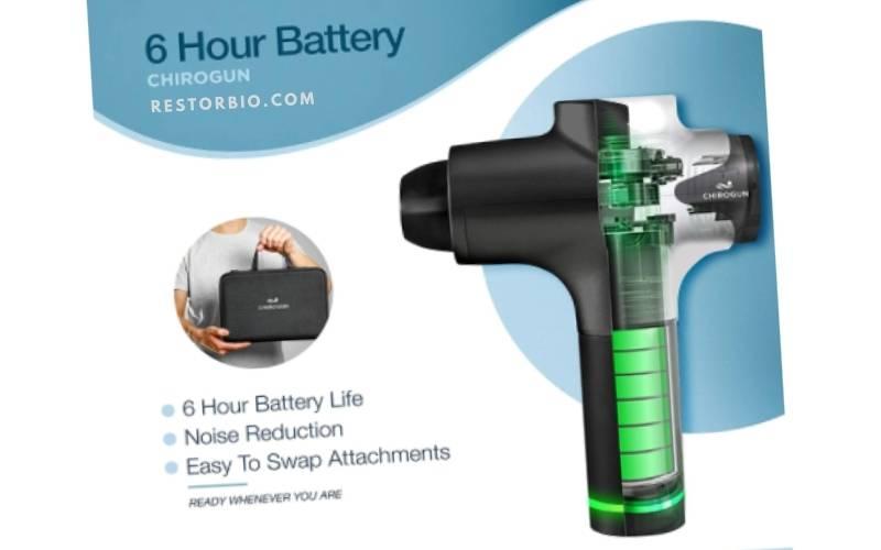 battery Chirogun Massage Gun